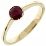 Damen Ring 333 Gold Gelbgold 1 Rubin rot Goldring