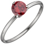 Damen Ring Edelstahl mit Swarovski-Element rot