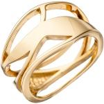 Damen Ring mehrreihig breit 925 Sterling Silber gold vergoldet