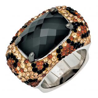 Damen Ring breit 925 Sterling Silber mit SWAROVSKI® ELEMENTS Silberring