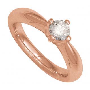 Damen Ring 585 Gold Rotgold 1 Diamant Brillant 0, 75ct. Diamantring Goldring