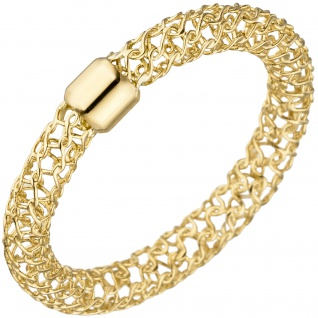 Damen Ring geflochten 750 Gold Gelbgold Goldring mit Geflecht