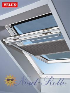 Original Velux Hitzeschutz-Set-Duoline Faltstore Markise FOP P10 1052S grau/schwarz für GGL/GPL/GHL/GTL/GXL P10/410 - Vorschau 1