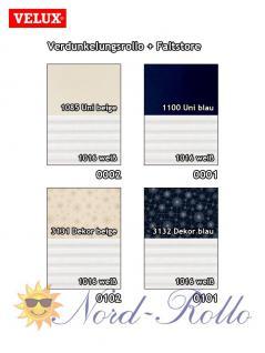 Original Velux Vorteils-Set Verdunkelungsrollo & Faltstore DFD S08 0001S dunkelblau/weiß für GGL/GPL/GHL/GTL/GXL S08/608 - Vorschau 3