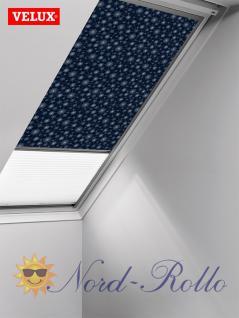 Original Velux Vorteils-Set Verdunkelungsrollo & Faltstore DFD 104 0101S dunkelblau/weiß für GGU/GPU/GHU/GTU/GXU 104