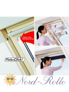 Original Velux Vorteils-Set Verdunkelungsrollo & Faltstore DFD P10 0002S beige/weiß für GGL/GPL/GHL/GTL/GXL P10/410 - Vorschau 4