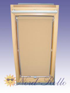 Sichtschutzrollo Rollo mit Haltekrallen für Roto R6,61_ ,62_,84_- 9/7 beige-karamell