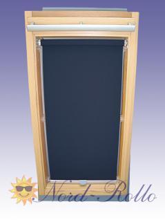 Sichtschutzrollo Rollo für Braas Holz Typ BK+BL 100/80 dunkelblau