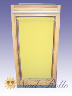 Sichtschutzrollo Rollo mit Haltekrallen für Roto 735 - 9/9 gelb