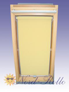 Sichtschutzrollo Rollo für Velux RG-EP VK,VE,VS 107 hellgelb-creme