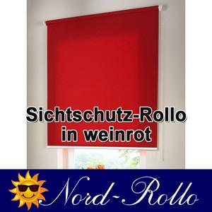 Sichtschutzrollo Mittelzug- oder Seitenzug-Rollo 130 x 200 cm / 130x200 cm weinrot