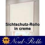 Sichtschutzrollo Mittelzug- oder Seitenzug-Rollo 132 x 100 cm / 132x100 cm creme