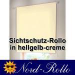 Sichtschutzrollo Mittelzug- oder Seitenzug-Rollo 112 x 100 cm / 112x100 cm hellgelb-creme