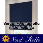 Verdunkelungsrollo Mittelzug- oder Seitenzug-Rollo 132 x 160 cm / 132x160 cm dunkelblau