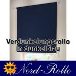 Verdunkelungsrollo Mittelzug- oder Seitenzug-Rollo 155 x 230 cm / 155x230 cm dunkelblau