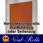 Verdunkelungsrollo Mittelzug- oder Seitenzug-Rollo 125 x 110 cm / 125x110 cm 12 Farben