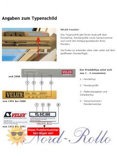 Original Velux Hitzeschutz-Set-Duoline Faltstore Markise FOP M10 1045S weiß/schwarz für GGL/GPL/GHL/GTL/GXL M10/310 - Vorschau 5
