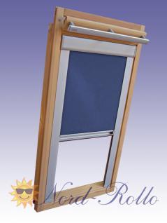 Verdunkelungsrollo Rollo Thermo blau mit Seitenschienen für Velux DG-EP VL,VG,VX 021 ALU