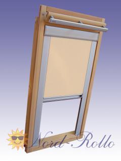 verdunkelungsrollo rollo mit seitenschienen f r velux dg ep vl vg vx 045 beige karamell kaufen. Black Bedroom Furniture Sets. Home Design Ideas