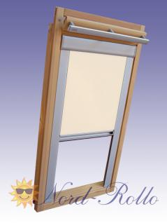 verdunkelungsrollo rollo mit seitenschienen f r velux dkl ep ggl gpl ghl gtl p06 creme kaufen. Black Bedroom Furniture Sets. Home Design Ideas