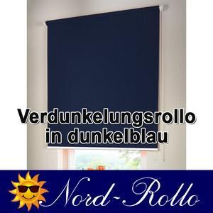 Verdunkelungsrollo Mittelzug- oder Seitenzug-Rollo 125 x 130 cm / 125x130 cm dunkelblau - Vorschau 1