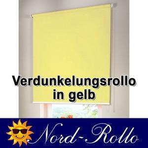 Verdunkelungsrollo Mittelzug- oder Seitenzug-Rollo 132 x 110 cm / 132x110 cm gelb - Vorschau 1