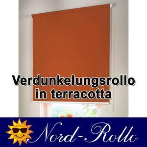 Verdunkelungsrollo Mittelzug- oder Seitenzug-Rollo 132 x 130 cm / 132x130 cm terracotta - Vorschau 1