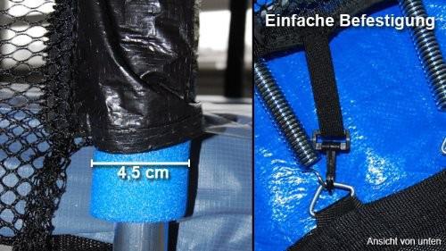 SICHERHEITSNETZ - ERSATZNETZ-Innenliegendes für Trampolin mit Ø 305 cm für 6 Stangen - Vorschau 2
