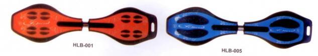 Skateboard Waveboard EASY SURFER mit 80mm LED Leuchtrollen+ Tasche Farbe-rot - Vorschau 3