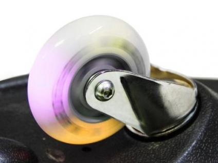 Skateboard Waveboard EASY SURFER mit 80mm LED Leuchtrollen+ Tasche Farbe-rot - Vorschau 2