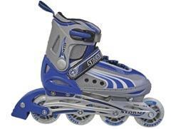 INLINER SKATER VERSTELLBAR GRÖSSE MODEL-STORM Farbe-blau