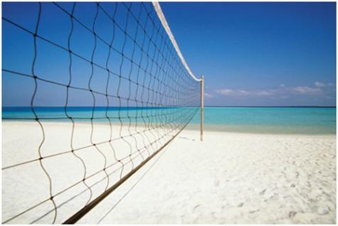 Beachvolleyball-Set Netz+Stangen+Spielfeldlinien - Vorschau