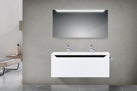 badm bel set monza design badezimmer badset inkl doppelwaschtisch 120 cm kaufen bei novelli. Black Bedroom Furniture Sets. Home Design Ideas
