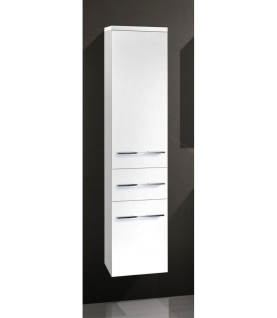 Design Hochschrank Bad Badmöbel Maße: H/B/T 155/35/33 cm, komplett vormontiert - Vorschau 1