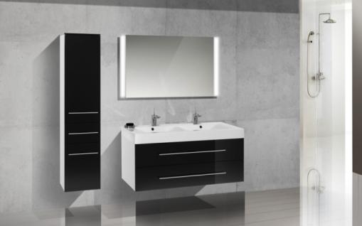 Design Hochschrank Bad Badmöbel Maße: H/B/T 155/35/33 cm, komplett vormontiert - Vorschau 3