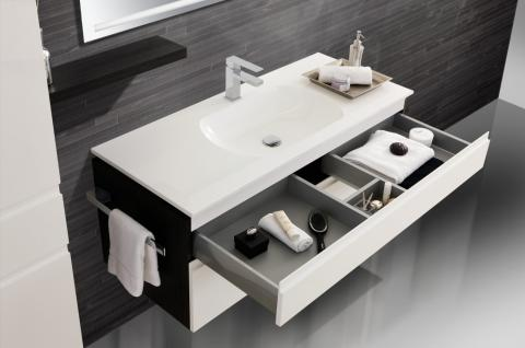 badm bel set badezimmerm bel design badset mit 120 cm lichtspiegel waschbecken kaufen bei. Black Bedroom Furniture Sets. Home Design Ideas