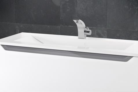 BADSET MONZA BADEZIMMERMÖBEL DESIGN + 120 CM WASCHTISCH GRAUE GRIFFLEISTE NEU - Vorschau 3