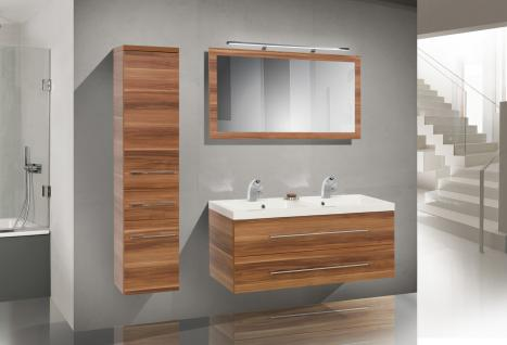design badm bel set mit spiegel badezimmerm bel waschbecken doppelwaschtisch 120 kaufen bei. Black Bedroom Furniture Sets. Home Design Ideas