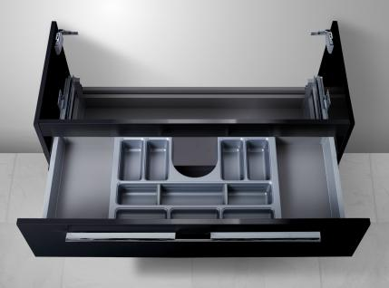 Unterschrank zu Duravit Vero 100 cm mit Kosmetikeinsatz Waschbeckenunterschrank