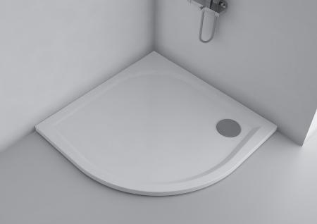 Duschwanne 100 x 100 cm ANDRIA Mineralguss flach Duschtasse bodengleich - Vorschau 2