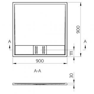 duschwanne 90x90 cm novara mineralguss flach viereck duschtasse bodengleich kaufen bei novelli. Black Bedroom Furniture Sets. Home Design Ideas