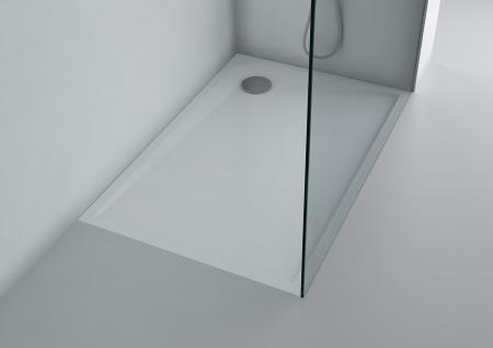 Duschwanne 120x80 cm flach SIENA Mineralguss Duschtasse bodengleich inkl. Füße - Vorschau 2