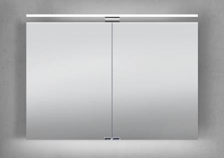 Spiegelschrank 100 cm LED Beleuchtung doppelseitig verspiegelt