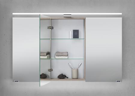 spiegelschrank 120 cm led beleuchtung doppelseitig verspiegelt kaufen bei novelli m beldesign. Black Bedroom Furniture Sets. Home Design Ideas