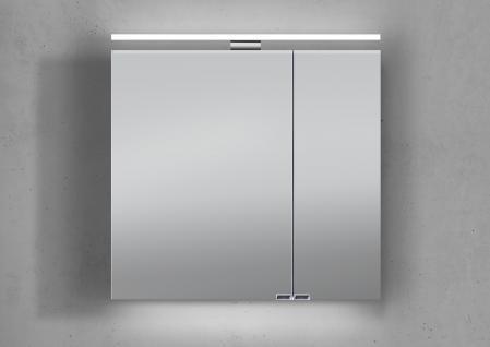 Spiegelschrank 70 cm LED Beleuchtung doppelt verspiegelt