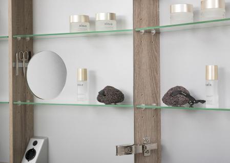 Spiegelschrank 80 cm LED Beleuchtung doppelt verspiegelt - Vorschau 4