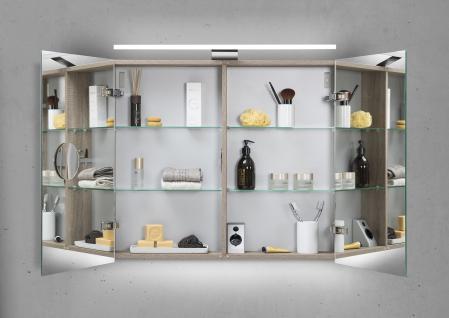 Spiegelschrank 80 cm LED Beleuchtung doppelt verspiegelt - Vorschau 2