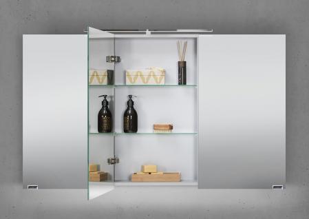 Spiegelschrank Bad 120 cm LED Beleuchtung mit Farbwechsel doppelt verspiegelt - Vorschau 3