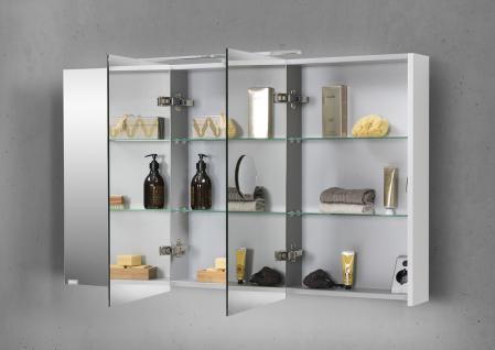 spiegelschrank bad 120 cm led beleuchtung doppelseitig verspiegelt kaufen bei novelli m beldesign. Black Bedroom Furniture Sets. Home Design Ideas
