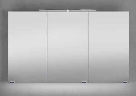 Spiegelschrank Bad 120 cm LED Beleuchtung mit Farbwechsel doppelt verspiegelt